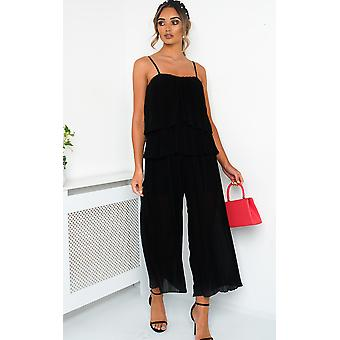 IKRUSH Womens Cardi Pleated Overlay Jumpsuit