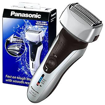 Panasonic Premium Wet and Dry 4-Blade Mens Electric Shaver with Flexible Pivot Head