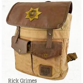 Backpack - The Walking Dead - Rick's Sheriff Brown New Toys Licensed TWD-L107