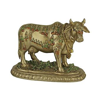 Golden Nandi the Sacred Bull Vahana of Hindu God Shiva Statue