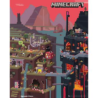 Minecraft World affichette 40x50cm