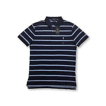 Ralph Lauren Polo custom slim fit polo in navy/blue stripe