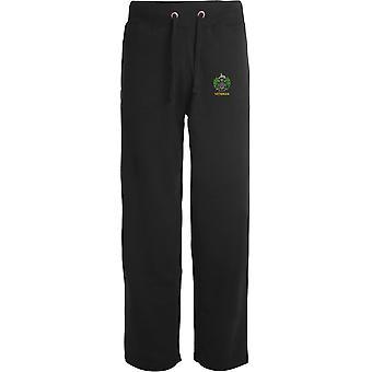 Essex Regiment Veteran - Licensed British Army Embroidered Open Hem Sweatpants / Jogging Bottoms