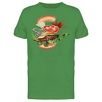 Hamburger With Ingredients Tee Men's -Image by Shutterstock