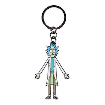 Rick and  Morty Keyring Keychain Rick Moveable head new Official Metal