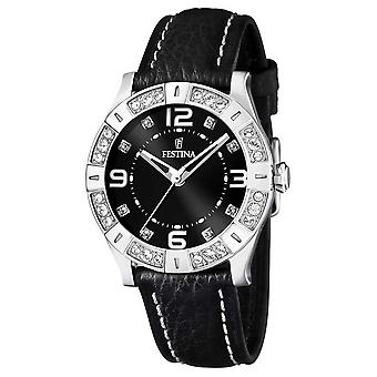 Festina Ladies Black Dial & Strap F16537/2 Watch