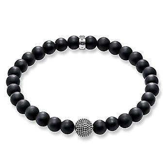 Thomas Sabo elastische armband en zwarte onyx zilver mannen 925