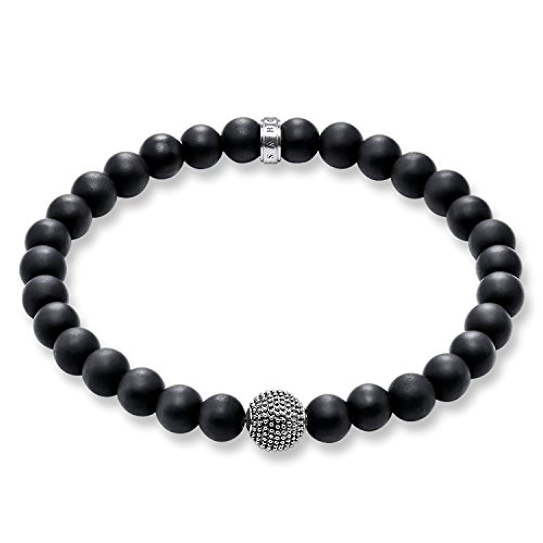 Thomas Sabo Elastic bracelet and Black Onyx silver men's 925
