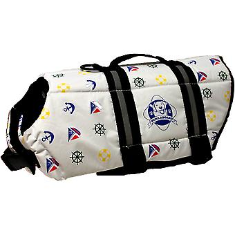 Paws Aboard Doggy Life Jacket Extra Small-Nautical Dog XS1200-N1200