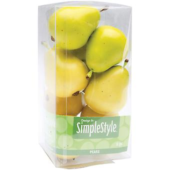 Design It Simple Decorative Fruit 9 Pkg Yellow Green Pears Rs9804