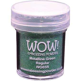 Wow! Embossing Powder 15Ml Green Metaline Wow Wg03r