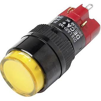 Pushbutton switch 250 Vac 5 A 1 x Off/On DECA D16LAR1-1abCY IP40 latch 1 pc(s)