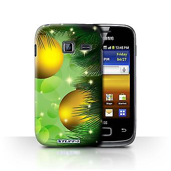 STUFF4 Case/Cover for Samsung Galaxy Y Duos/S6102/Baubles/Gold/Christmas Decorations