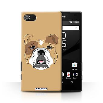 STUFF4 Case/Cover for Sony Xperia Z5 Compact/4.6/Dog/Bulldog/Animal Faces