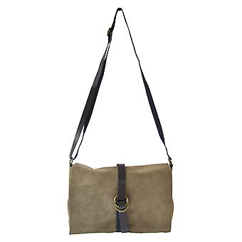CTM Womens suede shoulder bag