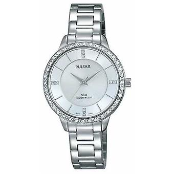 Pulsar Womens Stainless Steel Bracelet Silver Dial PH8213X1 Watch