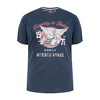 LOYALITET & tro Navy kortærmet Crew Neck T-Shirt