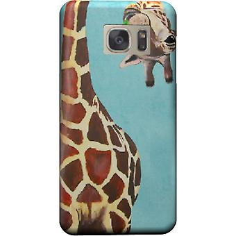 Giraffe with leaf cover for Galaxy S7 Edge