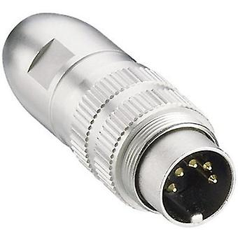 DIN connector Plug, straight Number of pins: 4 Silver Lumberg 0332 04 1 pc(s)
