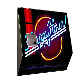 Doorbell with radio receiver - happy hour neon sign neon sign