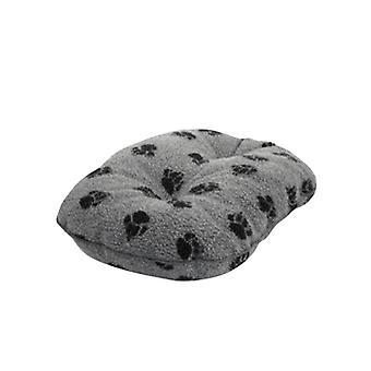 Fleece pote grå quiltet madras 89cm (35