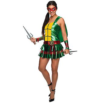 Raphael Raph Sexy Dress Teenage Mutant Ninja Turtles Superhero Women Costume