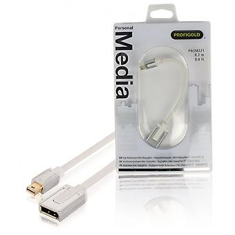 ProfiGold high-end Mini DisplayPort, DisplayPort Adapter 0,2 m