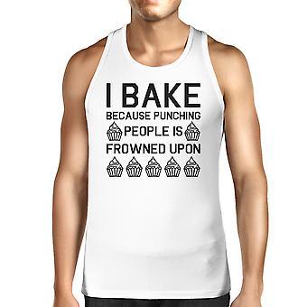 Jeg bager fordi Herre hvid ærmeløs Tank Top For Cupcake elsker