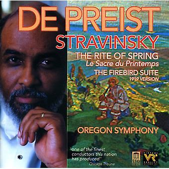 I. Stravinsky - Stravinsky: The Rite of Spring; the Firebird Suite [CD] USA import