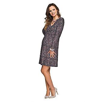 Strække mønster barsel kjole - Violet