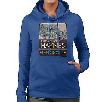 Haynes Motor Club Land Rover Women's Hooded Sweatshirt