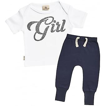 Spoilt Rotten Girl Design Baby T-Shirt & Joggers Outfit Set