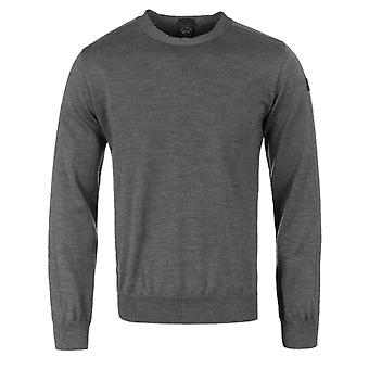 Paul & Shark Grey paneler uld Sweater