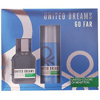 Benetton United Dreams Man Go Far Pack 2 Parts (Man , Perfumes , Gift Wraps)