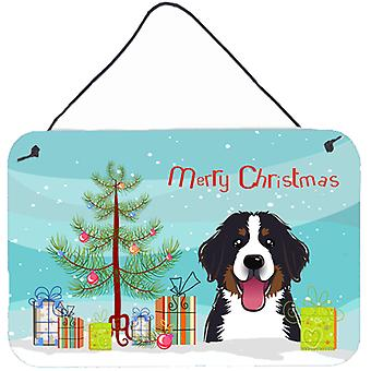 Christmas Tree and Bernese Mountain Dog Wall or Door Hanging Prints