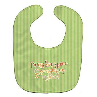 Carolines Treasures  BB6922BIB Fall Pumpkin Spice Green Stripe Baby Bib