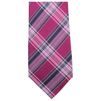 Knightsbridge Neckwear Luxury Checked Tie - Pink/Navy