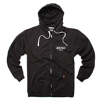 Mossimo mens hooded jacket black ICON