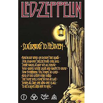 Led Zeppelin Stairway Stairway To Heaven Poster Poster Print