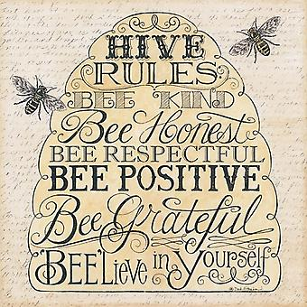 Hive Rules Poster Print by Deb Strain (12 x 12)