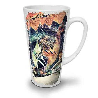 Time Travel UFO Space NEW White Tea Coffee Ceramic Latte Mug 17 oz | Wellcoda