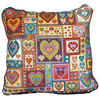 Little Heart Patchwork Needlepoint Canvas