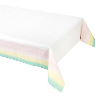 Paper Pastel Party Table Cover 180cm x 120cm