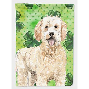 Carolines Treasures  CK1805CHF Shamrocks Goldendoodle Flag Canvas House Size
