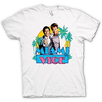 Herre T-shirt - Miami Vice - Crockett og Tubbs