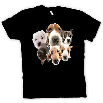 Womens T-shirt - Pet Dog Faces Collage - Cute