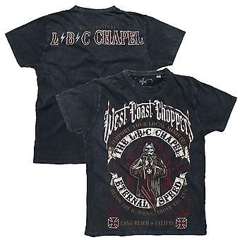 West Coast choppers T-Shirt the chapel anthracite vintage black