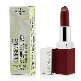 Clinique Pop Matte Lip Colour + Primer - # 11 Peppermint - 3.9g/0.13oz