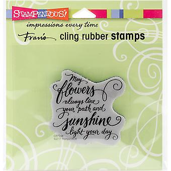Stampendous Cling Stamp -May Flowers