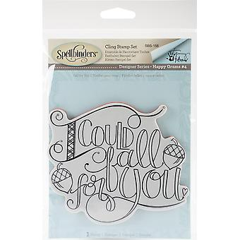 Spellbinder Happy Grams #4 Cling Stamps By Tammy Tutterow-Fall For You